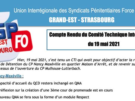 UISP FO Grand Est Strasbourg : Compte Rendu du Comité Technique Interrégionale du 19 mai 2021