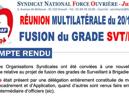 Reunion Multilatérale du 20/10/2021 sur la FUSION DU GRADE SVT/BGD