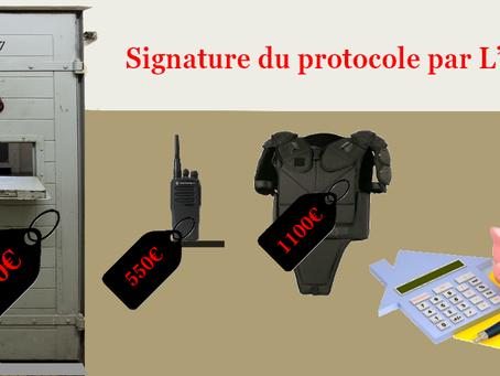 RENNES : Équipement suite à la  signature du protocole par L'ufDap mettant fin au mouvement social d