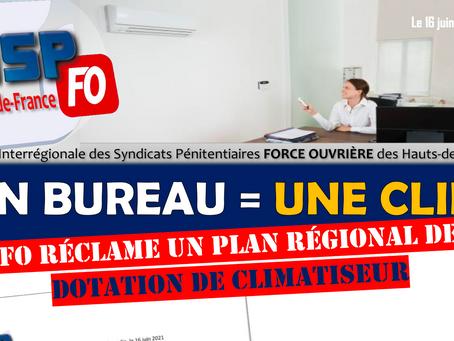 UISP-FO Hauts-de-France : Un Bureau = Une Clim.