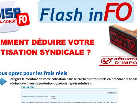 FLASH-INFO : Impôts, comment déduire votre cotisation syndicale ?