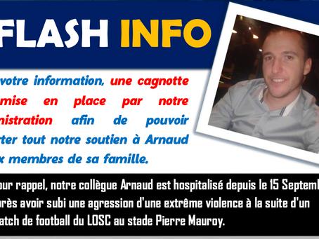 Soutien à Arnaud : L'administration ouvre une cagnotte pour aider notre collègue