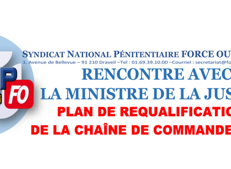 CDC : Rencontre avec la Ministre de la Justice, plan de requalification de la chaîne de commandement