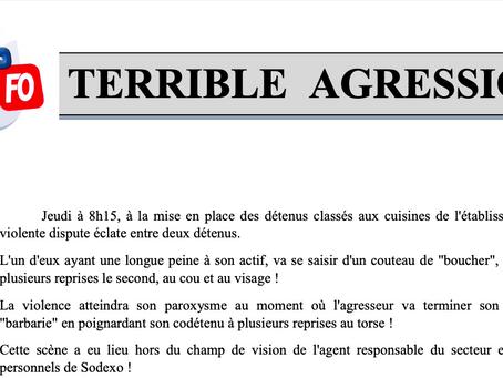 Prison de Neuvic : Terrible Agression !