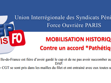 Mobilisation Historique contre un accord *Pathétique* !