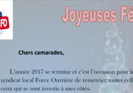 Le Centre Pénitentiaire de Béziers vous souhaite de Joyeuses Fêtes !