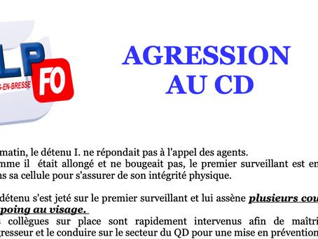 Prison de Bourg-en-Bresse : AGRESSION au CD
