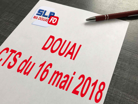 Prison de Douai : CTS du 16 mai 2018