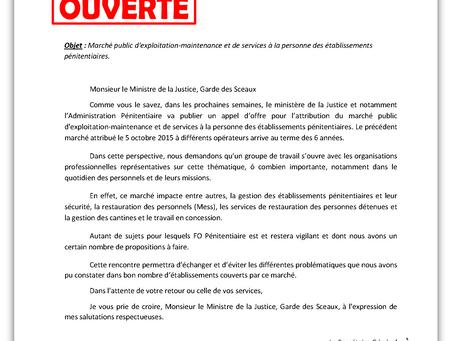 Lettre Ouverte au Ministre de la Justice : MARCHÉ PUBLIC