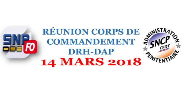R union corps de commandement drh dap du 14 mars 2018 - Grille indiciaire surveillant penitentiaire ...