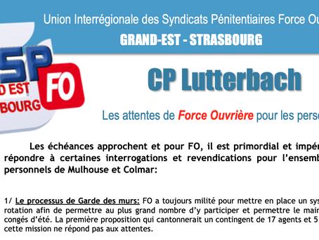UISP-FO Grand-Est-Strasbourg : CP Lutterbach. Les attentes de Force ouvrière pour les personnels