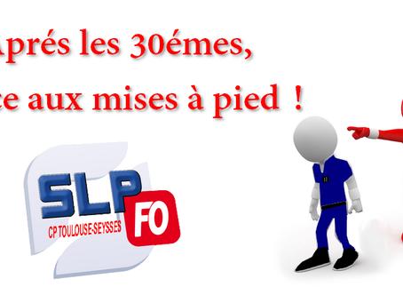 Prison de Toulouse-Seysses : Aprés les 30emes, place aux mises à pied !