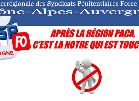 UISPFO Rhône-Alpes-Auvergne : Après la région PACA, c'est la notre qui est touchée