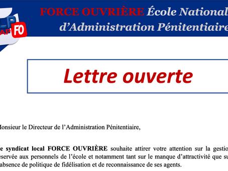 ENAP : Lettre Ouverte à Monsieur le Directeur de l'Administration Pénitentiaire