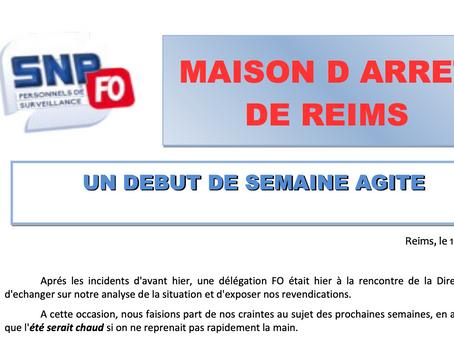 Prison de Reims : Un début de semaine agité !