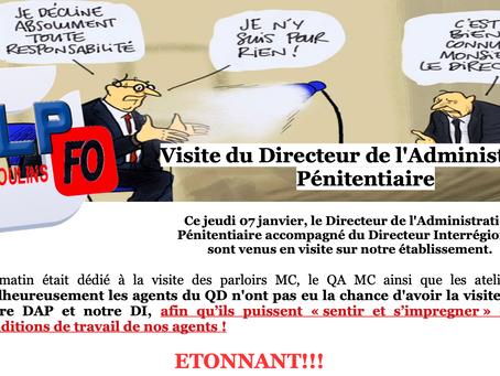 Prison de Moulins : Visite du Directeur de l'Administration Pénitentiaire