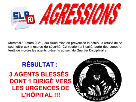 Prison de Salon-de-Provence : AGRESSIONS