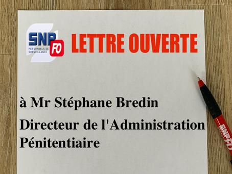 Lettre Ouverte à Mr Bredin, directeur de l'AP : Volet sécuritaire, un engagement à ne pas oublier