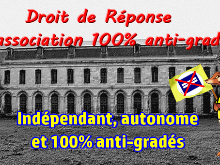 Prison de Clairveaux : Droit de Réponse à l'association 100% anti-gradés