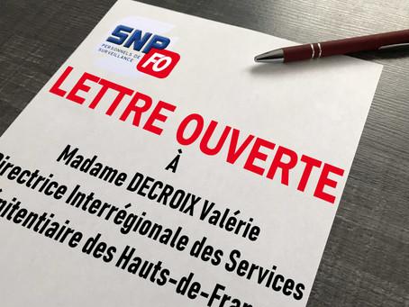 Prison de Sequedin : LETTRE OUVERTE à Madame DECROIX Valérie, DISP des Hauts-de-France