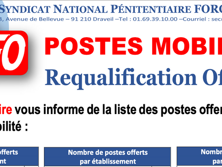 POSTES MOBILITÉS Requalification Officiers