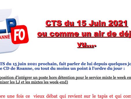Prison de Roanne : CTS du 15 juin 2021 ou comme un air de déjà vu...