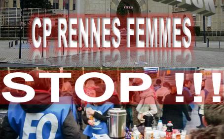 Mobilisation Prison de Rennes Femmes ! STOP !!!