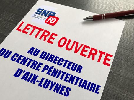 Prison d'Aix-Luynes : Lettre ouverte au Directeur