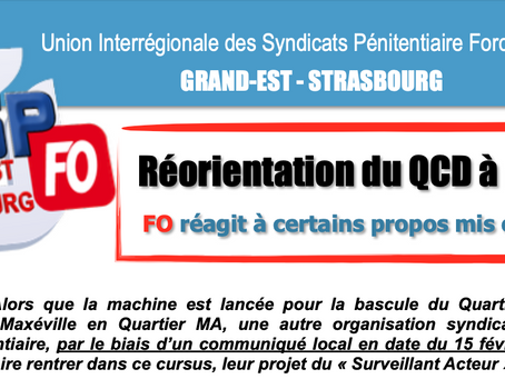UISP-FO Grand-Est-Strasbourg : Réorganisation du QCD à Nancy