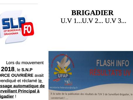 Prison de Bordeaux-Gradignan : Brigadier UV1, UV2, UV3...