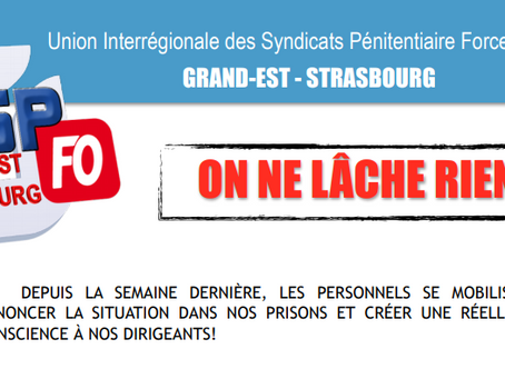 L'UISP-FO Grand-EST-Strasbourg : On ne làche RIEN !