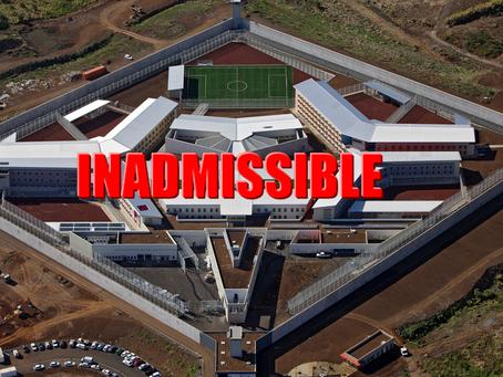 Prison de Saint-Denis : Inadmissible