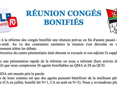Prison de Nantes : Réunion Congés Bonifiés