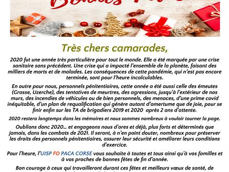 UISP-FO PACA Corse :Bonnes Fêtes !