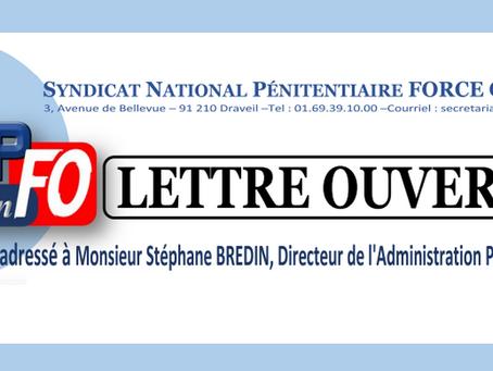 Lettre ouverte à Monsieur Stéphane Bredin, Directeur de l'Administration Pénitentiaire