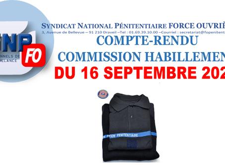 Compte-Rendu Commission Habillement du 16 septembre 2020