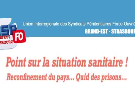 UISP-FO Grand-Est : Point sur la situation sanitaire ! Reconfinement du pays... Quid des prisons...