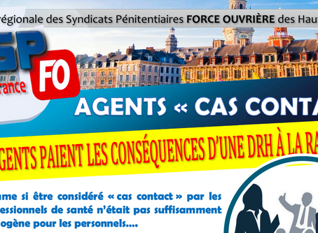 "UISPFO Hauts-de-France : Agents ""cas contacts"""