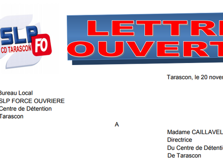 Tarascon : Lettre ouverte à Madame la Directrice