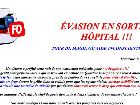 Prison de Marseille : Évasion en sortie hôpital !