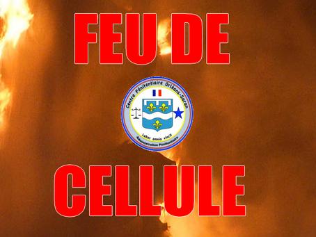 Prison d'Orléans-Saran : Feu de cellule