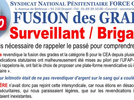 FUSION DES GRADES Surveillant/Brigadier