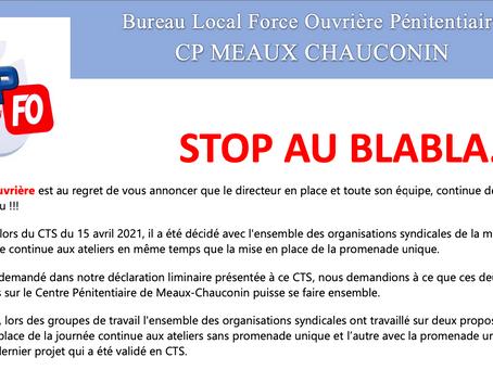 Prison de Meaux-Chauconin : STOP au BLABLA...
