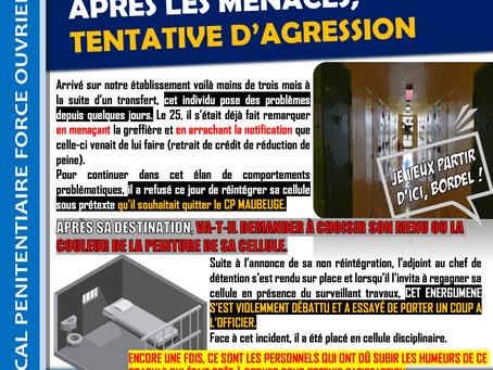 Prison de Maubeuge : Après les menaces, tentative d'agression