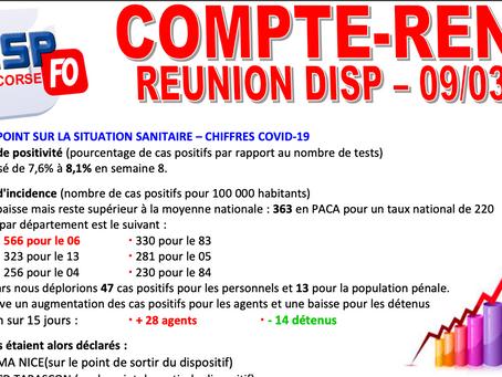 UISP-FO PACA-CORSE : Compte-Rendu de la Réunion DISP du 09/03/2021
