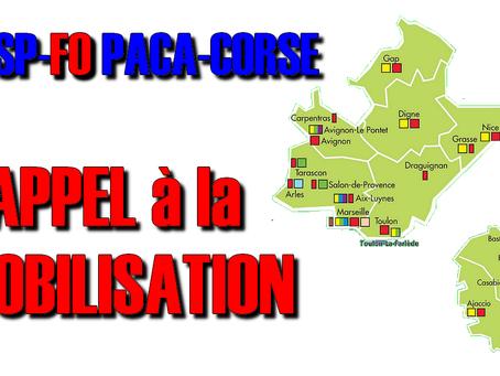 L'UISP-FO PACA-CORSE Appel à la mobilisation !