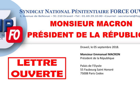 Lettre Ouverte à Monsieur Macron, Président de la République