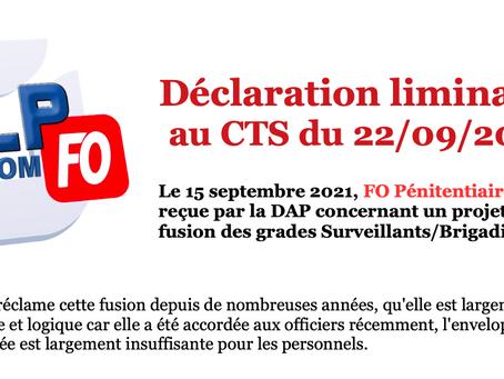 Prison de Riom : Déclaration liminaire au CTS du 22/09/2021