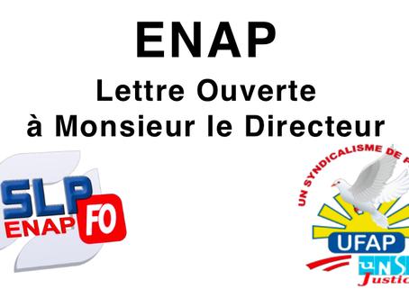ENAP : Lettre Ouverte à Monsieur le Directeur