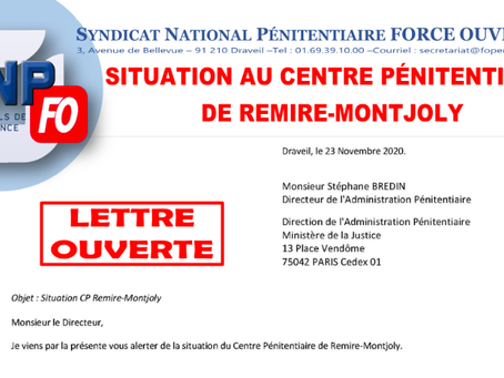 Situation au centre pénitentiaire de Remire-Montjoly